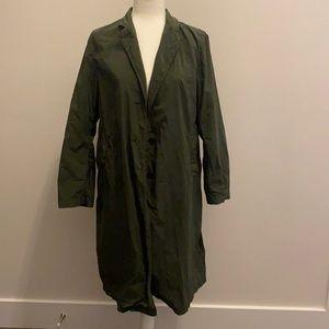 Uniqlo X Idlf Duster Coat Trench Coat Green Sz S
